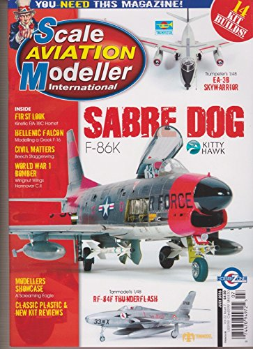 SCALE AVIATION MODELLER INTERNATIONAL MAGAZINE JULY 2016, SABRE DOG. (Modeller Magazine)