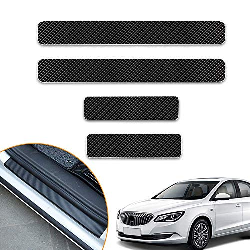 Longzhimei Car Door Sill Protector for ACURA ILX RDS TLX MDX RLX NSX Door Entry Guard Welcome Pedal Threshold 4D Carbon Fiber Stickers Anti-Scratch