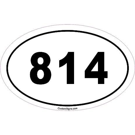Amazoncom Area Code Bumper Sticker For Car Automotive - 814 area code