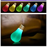 Portable Travel Cool Mist Air Humidifier USB Night Silent Spray Diffuser Desktop Desk Car Bedroom Nursery House Women Personal Facial Cute Mini Pure Steam Evaporative Cleaner Moisture (Subtranparent)