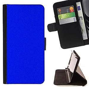 Blue Screen Monotone Bright - Modelo colorido cuero de la carpeta del tirón del caso cubierta piel Holster Funda protecció Para Samsung Galaxy S5 V SM-G900