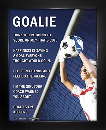Framed Soccer Goalie Female 8 x 10 Sport Poster Print