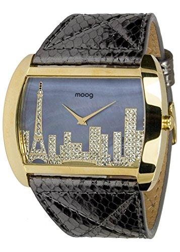 [ムック]moog 腕時計 Skyline ブラック B01B92HW62