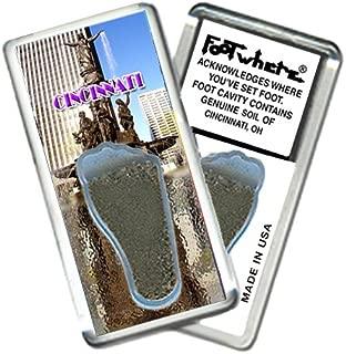 product image for Cincinnati FootWhere Souvenir Fridge Magnet. Made in USA (CC205 - Fountain Square)