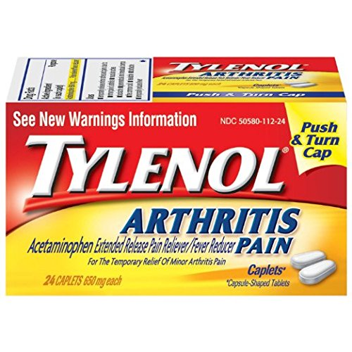 - TYLENOL Arthritis Pain Caplets, 8 HR Extended Release Pain Reliever & Fever Reducer 24 ea Pack of 4