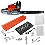 Etuoji Petrol Chainsaw Saw Blade With Chains Bar Cover and Tool Kit Garden Home Use