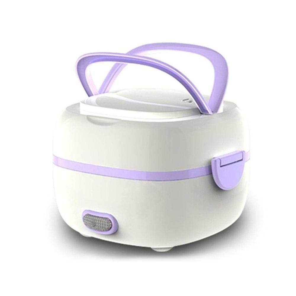 KOBWA Multifunctional Electric Lunch Box, Mini Rice Cooker, Portable Food Heater Steamer with Stainless Steel Bowls, Egg Steaming Rack, Spoon, Measuring Cup for Use in Office Outdoor School