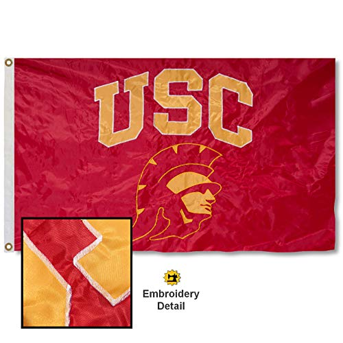 University of Southern California Trojan Head Embroidered and Stitched Nylon (Southern California Fan)