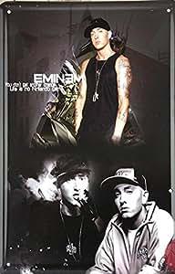 (Roys Art) -Pop star Eminem painting Metal Poster Fit For BAR PUB HOME Decoration G-65 20*30CM
