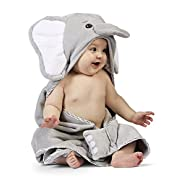 Bearington Baby Lil' Spout Elephant Hooded Bath Towel, 24  x 24