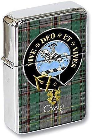 Craig (Latina Lema)  Clan Escocés Escudo Mechero con tapa EN UNA LATA DE REGALO: Amazon.es: Hogar