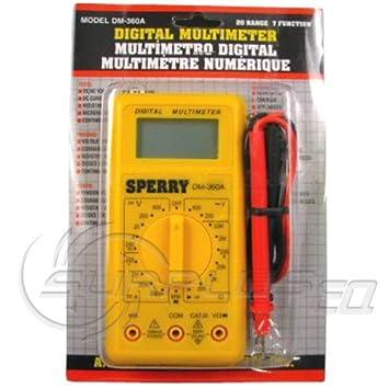 A.W. Sperry DM-360A 2 7 Function Digital Meter Multimeter