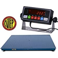 Certified NTEP 1000lb/0.2lb 24x24 Legal For Trade Floor Scale with Indicator