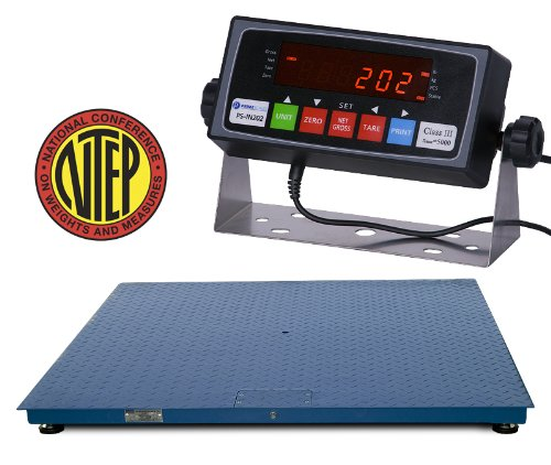 Floor Trade Scale (Certified NTEP 1000lb/0.2lb 24x24 Legal For Trade Floor Scale with Indicator)