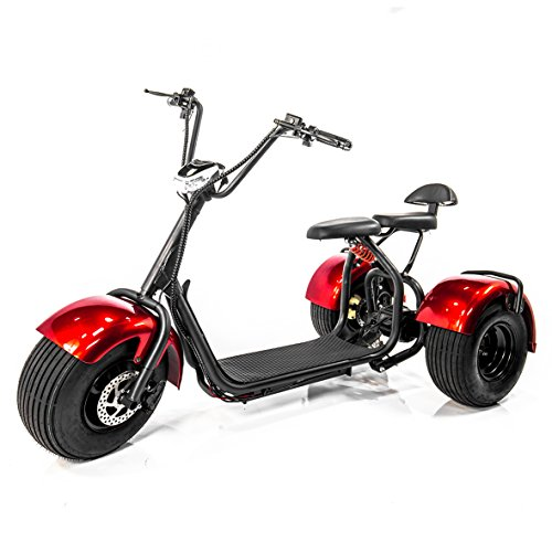E-Wheels EW-21 CHOPPER TRIKE Fat Tires 3-wheel Electric ...