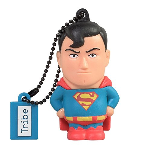Tribe DC Comics Warner Bros. Pendrive Figure 8 GB Funny USB Flash Drive 2.0, Keyholder Key Ring, Superman (FD031401) ()