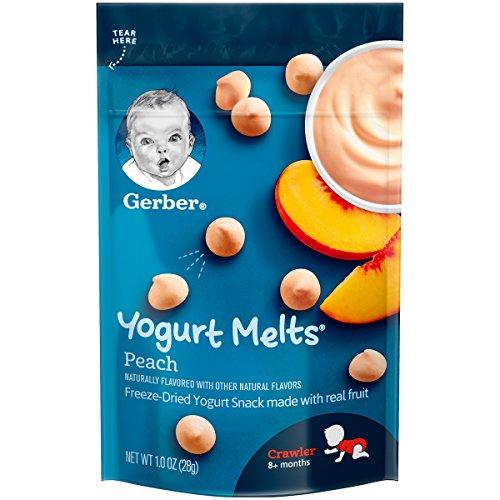 Gerber Graduates Yogurt Melts, Mixed Peach, 1 Ounce