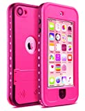 iPod 6 Case,ULAK Waterproof iPod Touch Case For Boys Girls Built-in Touch Screen Dustproof Sweatproof with Kickstand for iPod Touch 5 6th Generation(Mint Green/Grey)
