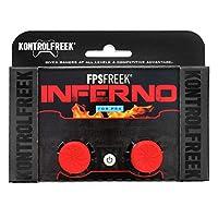 KontrolFreek FPS Freek Inferno para el controlador de Playstation 4 (PS4) | 2 Thumbsticks de rendimiento | 2 cóncavos de gran altura | rojo