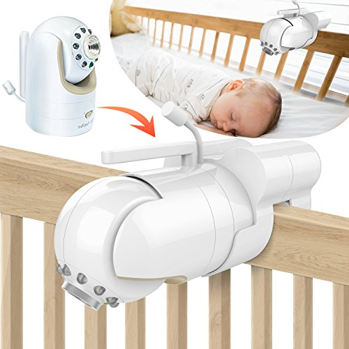 Baby Monitor Mount Bracket for Infant Optics DXR-8 Baby Monitor, Featch Universal Baby Cradle Mount Holder for Infant Optics DXR-8(Infant Optics DXR-8 Not Included) by Featch