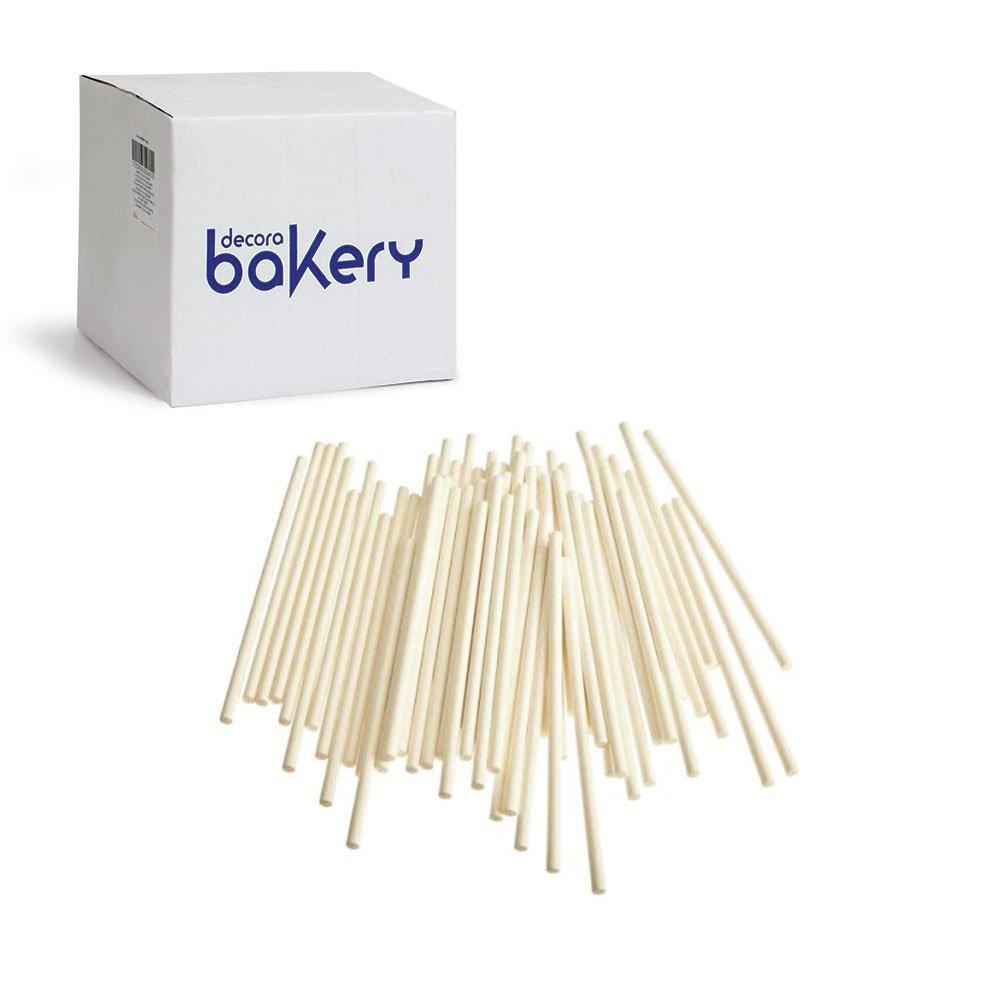 biscotti e lecca lecca STECCHE IN CARTA FORNO PER cake pops 100 BASTONCINI DA /Ø 3,8 x 30,4 cm