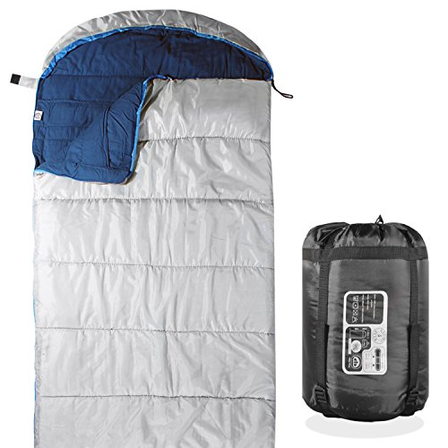 KHOMO GEAR - 3 Season - Sleeping Bag For Hiking Camping & Outdoor Activities - Compression Bag Included by KHOMO GEAR