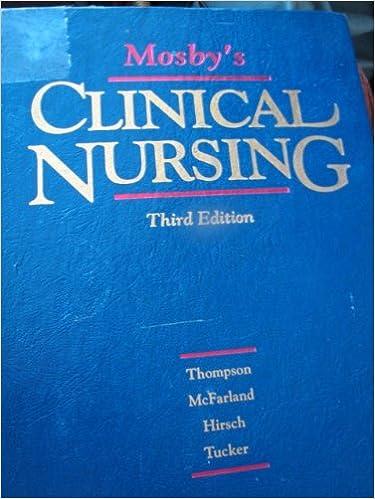 mosbys clinical nursing 5th edition