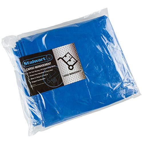 Stalwart Outdoor Multi Use Tarp- Durable Tear Resistant Blue Multipurpose Reusable Tarp for Hunting, Dry Storage, Protection