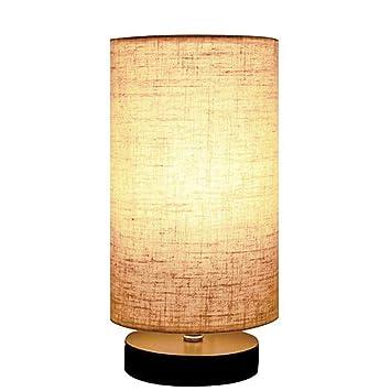 Redondo Lino Lámpara de Mesa Madera Maciza Usado para ...