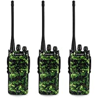Amcrest ATR-22 UHF Portable Radio Walkie Talkie Frequency Range 400-470 MHz FM Transceiver 16 Programmable Channels High Power Flashlight Walkie-Talkie Two-Way Radio FCC Cert.