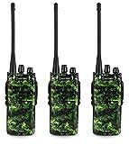 3-Pack Amcrest ATR-22 UHF Portable Radio Walkie Talkie Frequency Range 400-470 MHz FM Transceiver 16 Programmable Channels High Power Flashlight Walkie-Talkie Two-Way Radio FCC Cert. (Camo)