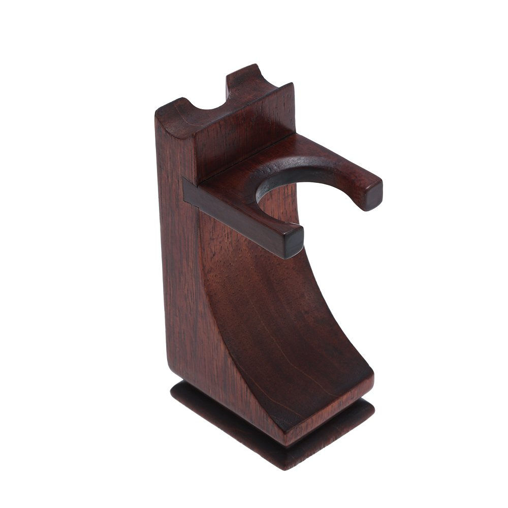 Anself Shaving Holder Stand Solid Wood Shaving Tool Organizer for Shaving Razor Brush W4270-HMMFBA