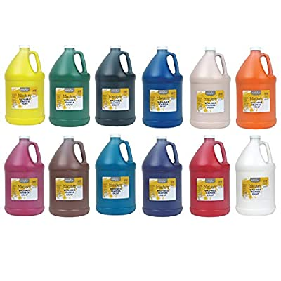Handy Art RPCHA128ALL-12 Little Masters Washable Tempera Paint, 128 Ounce, 12 Colors Bottles