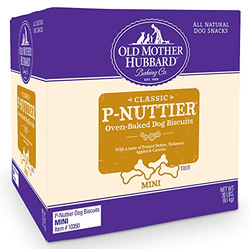 Old Mother Hubbard Classic Crunchy Natural Dog Treats, P-Nuttier Mini Biscuits, 20-Pound Box ()