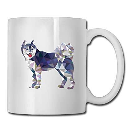Amazon Com Sara Nell Custom Gift Coffee Mug Polygonal Siberian