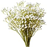 Mandy's 10pcs White Artificial Babysbreath Flowers for Home Kitchen Decoration