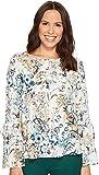 Karen Kane Women's Tie Sleeve Blouse Floral X-Large