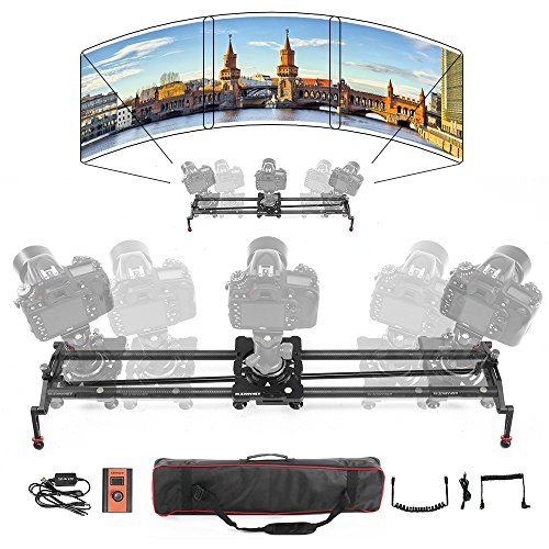 ASHANKS S2 0.8m/2.6ft Silent Stepper Motor Motorized Timelapse Slider for Electric Control Follow Focus Interviews Shooting (Balance Weight Tube System)