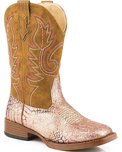 ROPER Girls' Glitz Western Boot, Pink, 12 M US Little -