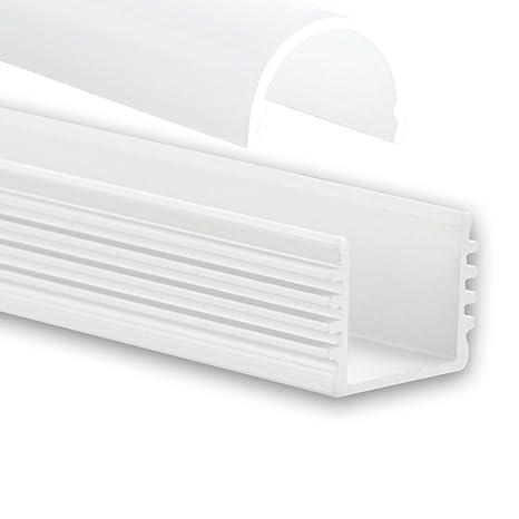 PL5 megrez C5 – Perfil de aluminio F. tira LED 2 m + ópalo (