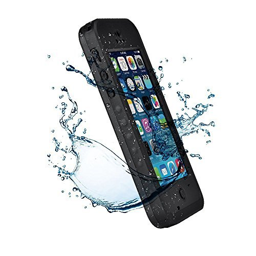 iPhone 5C Case,3C-Aone New Waterproof Shockproof Dirtproof Snowproof Protection Case Cover Only for Apple iPhone 5C -Black