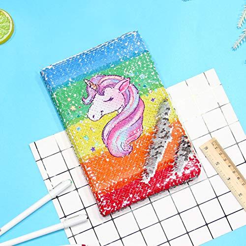 ceaf1c9765fb Buy Beinou Unicorn Notebook, Reversible Sequin Notebook Magic ...