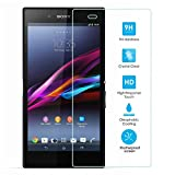 [2 Packs] Sony Xperia Z Ultra Screen Protector, Tempered Glass Clear Screen Protector Scratch-resistant HD Screen Guard for Sony Xperia Z Ultra