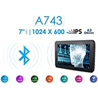 Azpen A743 7 8GB Quad Core Android 5.1 Lollipop Tablet with HD LCD IPS Display 1GB RAM Bluetooth