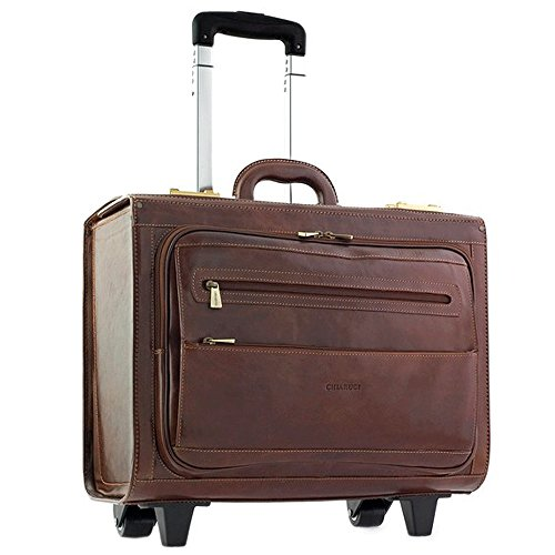 (Chiarugi Italian Leather Pilot Briefcase (brown))