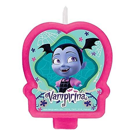 Amazon.com: Amscan Disney Vampirina - Vela de cumpleaños ...