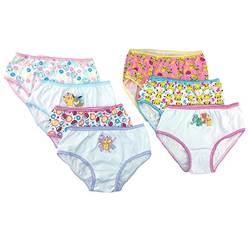 Pokemon Big Girls' 7pk Panty, Asst, (Pokemon Girl)