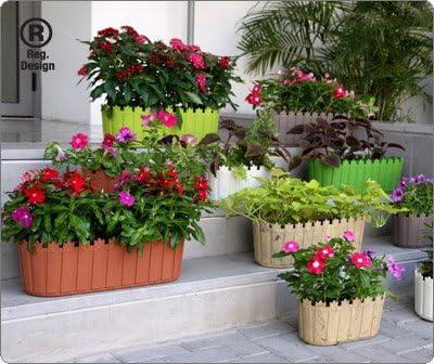Diseño elegante y pintoresco Jardinera ovalada para interior o exterior con platillo o tapa de maceta - Ideal para sus flores y hierbas favoritas rojo azul amarillo verde: Amazon.es: Jardín