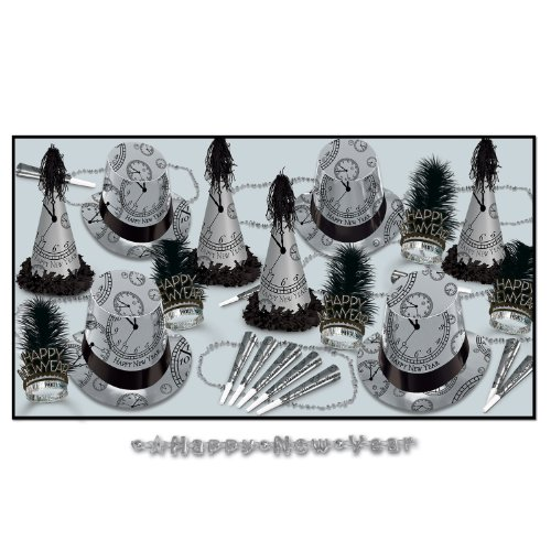 The Silver Midnight Asst for 50 Party Accessory (1 count) by Beistle