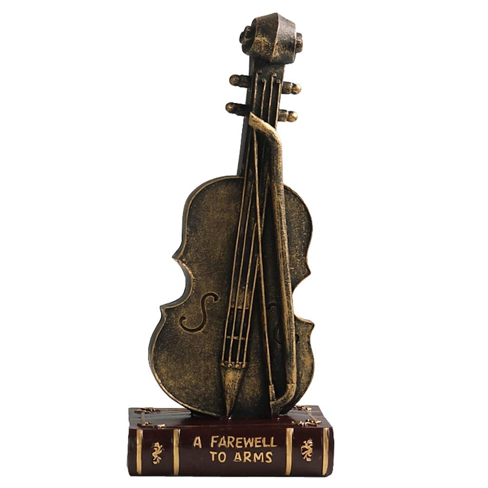 MS Crafts - Nordic Retro Violin Model Ornaments Creative Window Home Multi-Function Crafts Jewelry [Size: 12.5cmx28cm] @